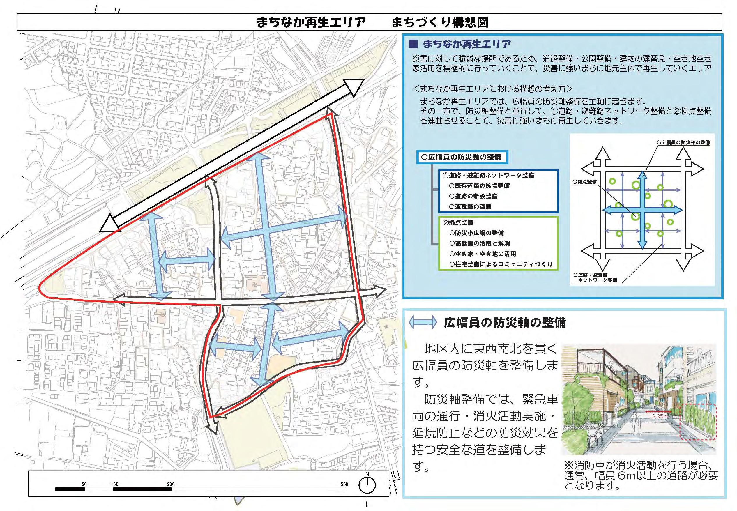 ふるさとリーサム地区による道路計画