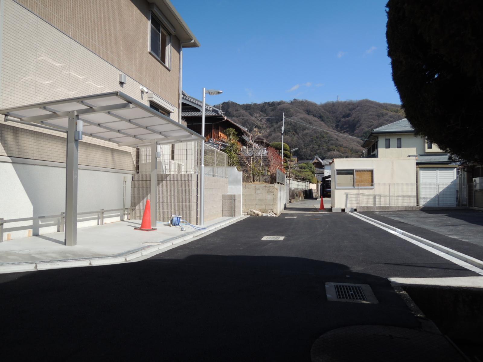 駐輪場には屋根があります