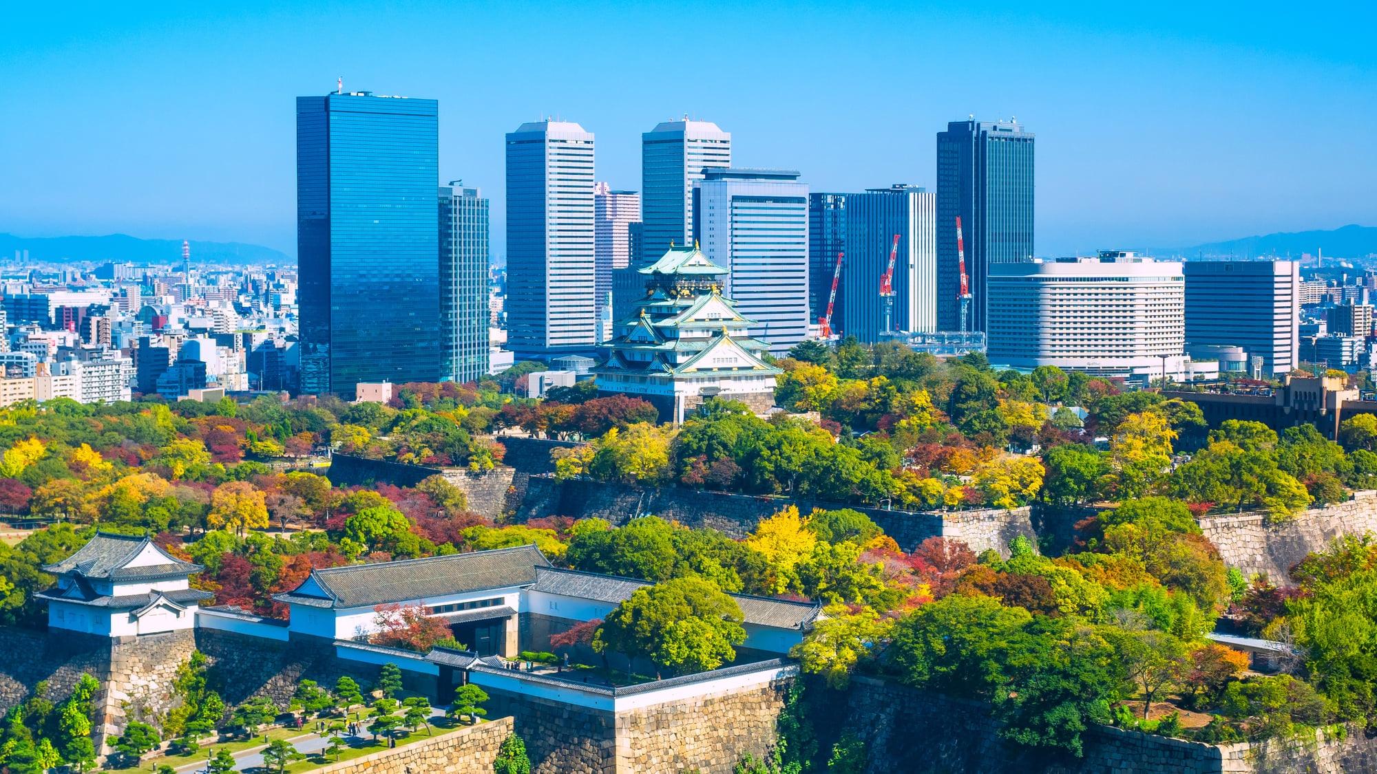 大阪城が徒歩圏にあります