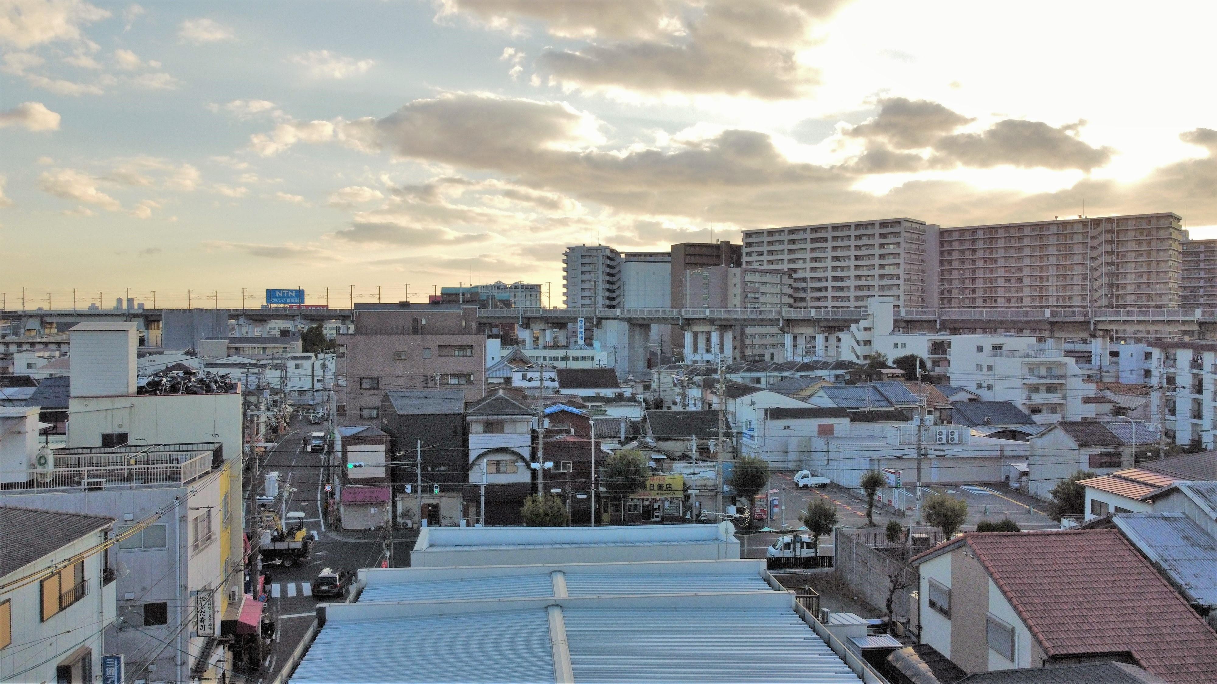 敷地上空からの写真