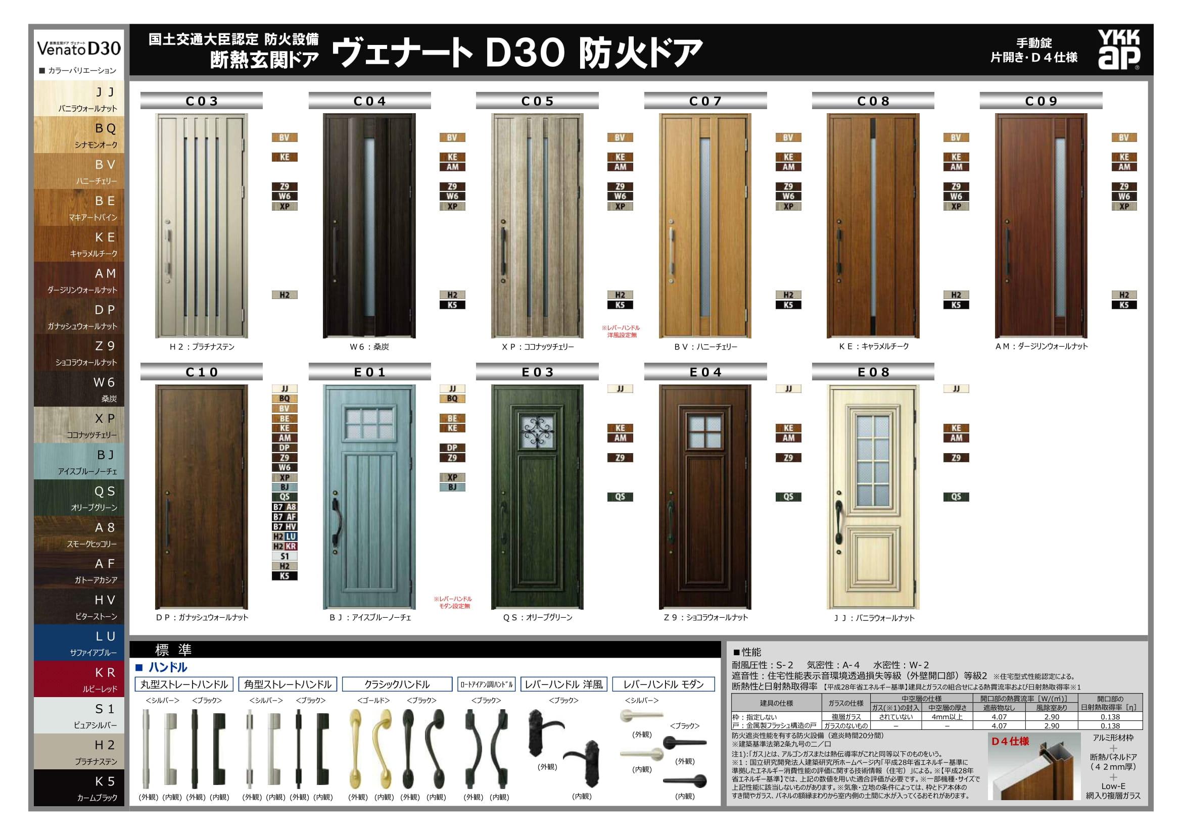 玄関ドア仕様